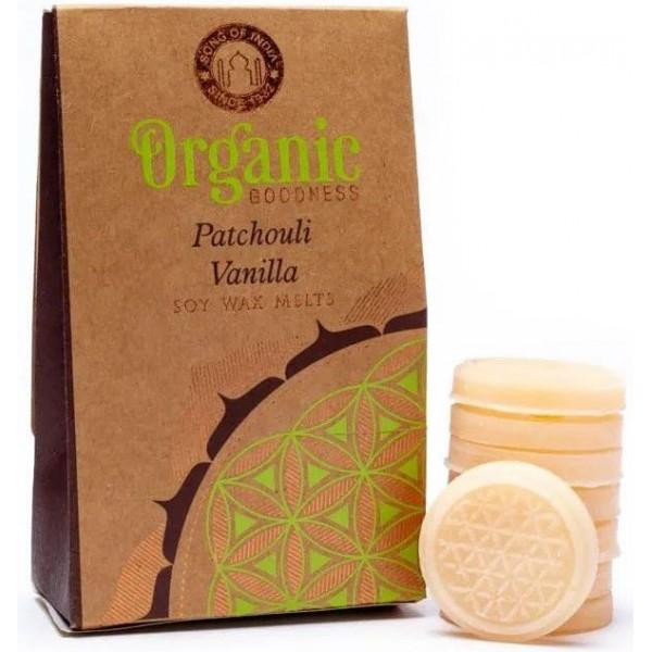 Cire à fondre Patchouli Vanille - végane - Organic Goodness