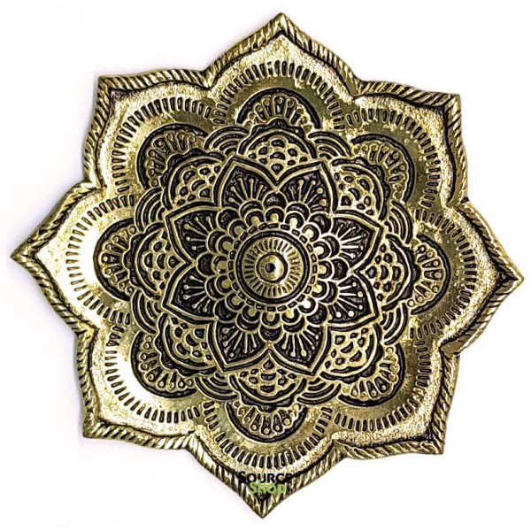 Porte encens en métal - Lotus